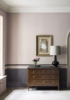 Hallway paint colours: 28 inspiring decorating ideas for enhancing your hallway Hallway Colour Schemes, Hallway Paint Colors, Room Colors, Paint Colours For Hallway, Dining Room Colour Schemes, Pink Paint Colors, Pink Color, Dado Rail Bedroom, Wall Colors
