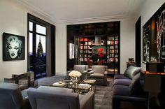 Superbes salons avec des motifs noirs ~ Décoration Salon / Décor de Salon