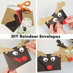""""""" DIY Reindeer Envelopes If you are planning on sending out Christmas cards this year then you should check out this DIY Reindeer Envelopes. They will make your Christmas letters look that..."""