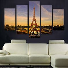 Eiffel Tower http://walldecordeals.com/product/wholesale-5pcs-eiffel-tower-oil-painting-printed-painting-oil-painting-on-canvas-home-decoration-home-decor-on-canvas/