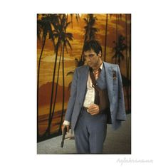 Tony Montana:I never fucked anybody over in my life didn't have it coming to them. You got that? All I have in this world is my balls and my word and I don't break them for no one. Do you understand? That piece of shit up there I never liked him I never trusted him. For all I know he had me set up and had my friend Angel Fernandez killed. But that's history. I'm here he's not. Do you wanna go on with me you say it. You don't then you make a move.  #scarface #alpacino #gun #guilty #gang #drug…