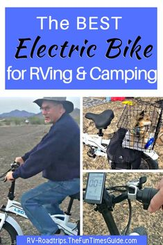 Wondering which electric bike for RV owners is best? I live full-time in an RV and bought my first e-Bike. My choice for an RV electric bike is one that folds in half, making storage simple! Mine is the Lectric XP ebike. Tips to make sure you get the right e-bike setup for your needs while RVing and camping. #bicycling #cycling #ebike #electricbike #electricbicycle