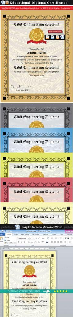 Modern Corporate Word Certificate Modern And Words   Engineering Paper  Template Word  Engineering Paper Template Word