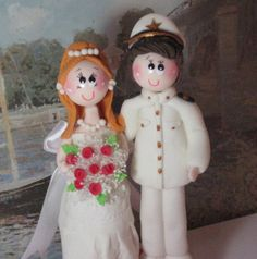 Wedding cake topper custom wedding cake topper by CuteToppers, $80.00