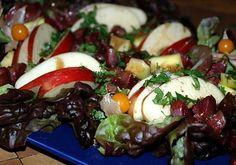 recette Salade de gésiers confits avec sa pomme et sa mangue au vinaigre balsamique aromatisé à l'écorce d'orange amère