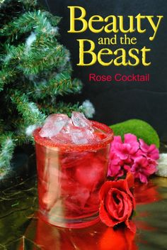 The Beauty and The Beast Rose Cocktail Recipe is perfect for your viewing party and will be coming out on on Digital HD, DVD, Blu-ray and DMA on June Rose Cocktail, Cocktail Drinks, Cocktail Recipes, Party Drinks, Fun Drinks, Yummy Drinks, Beauty And Beast Wedding, Beauty And The Beast, Disney Cocktails