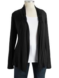 front jersey cardigan