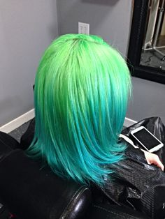 Pravana pastels and neons! Green and blue, neon and aqua