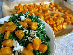 In Season: Lacinato Kale Salad with Roasted Squash