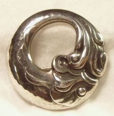 Art Nouveau Fish Pin / Brooch Georg Jensen