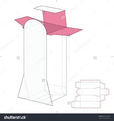 Counter Display Box Dispenser With Die Line Template Stock Vector Illustration 328252889 : Shutterstock