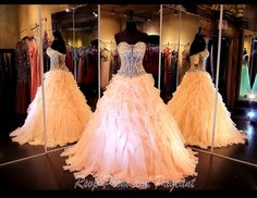 100JP010150475-BLUSH - Stunning Ball Gown in Blush... Perfect for Prom or Pageant at Any Age and only at Rsvp Prom and Pageant :) http://rsvppromandpageant.net/collections/long-gowns/products/100jp010150475-blush