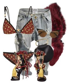 """Untitled #3793"" by xirix ❤ liked on Polyvore featuring Charlotte Simone, OneTeaspoon, Louis Vuitton, 3.1 Phillip Lim and Dsquared2"