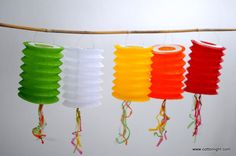 10 set handmade japan lantern colorful lantern by cottonlight, $9.00