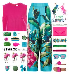 """""""~Summer Brights~"""" by amethyst0818 ❤ liked on Polyvore featuring F.R.S. For Restless Sleepers, Karen Walker, Victoria, Victoria Beckham, Kate Spade, André Assous, Henri Bendel, Kenneth Jay Lane, Sisley, beautyblender and STELLA McCARTNEY"""