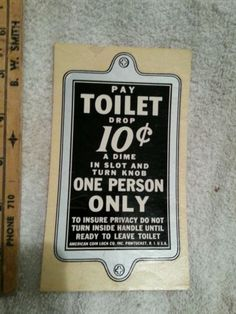 1000 Images About Pay Toilets On Pinterest Toilets