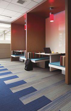 Interface | Modular Carpet Tile | Silver Linings | SL930 Stone Fade | On Line Azure