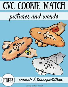 Match CVC words and pictures with this free CVC cookie match activity!