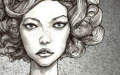 Karlie Kloss curlie.  Lovely illustration.