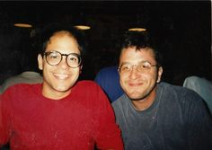 Young Marc Maron and David Cross