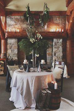 #deco #mariage #hiver #auberge #lactaureau
