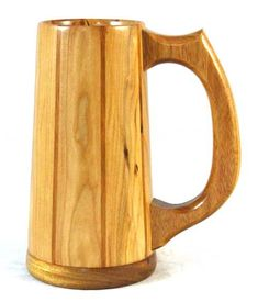 Wooden Beer Mug, Wood Mug, Red Geraniums, Beer Company, Wood Lathe, Wood Turning, Wood Crafts, Wood Projects, Classic Style