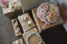 Flowers at weddings | Pink flowers | Flower crowns | Natural details took centre stage at the wedding of childhood sweethearts Rob and Kylie Waite, who took their vows at rustic venue, Sopley Water Mill in Hampshire. Exposed brick, fudge favours, firepits and giant hearts were creative accompaniments to the couple's dream day | www.weddingsite.co.uk