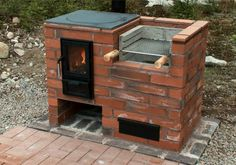 Integriertes Kochfeld, – Rebel Without Applause Outdoor Stove, Outdoor Fire, Outdoor Living, Brick Grill, Patio Grill, Bbq Grill, Backyard Kitchen, Outdoor Kitchen Design, Outdoor Kocher
