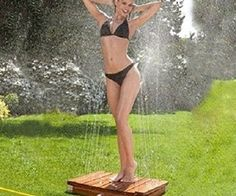 outdoor shower fountain