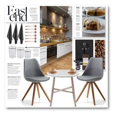 """""""Modern Kitchen"""" by crblackflag ❤ liked on Polyvore featuring interior, interiors, interior design, home, home decor, interior decorating, Jura, canvas, Iacoli & McAllister and Toast"""