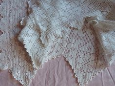 ♤✔ Antique #hand #crocheted bedspread afghan #blanket handmade French croche... http://etsy.me/2ys6tN4