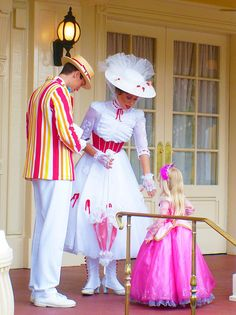 Bert and Mary with a little princess - you're welcome for all the Mary Poppins pins. Lol