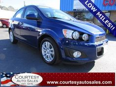 2013 CHEVROLET SONIC -- ONLY 36,646 MILES!! -- Up To 35 MPG!! -- CLEAN CAR-FAX!! -- Price INCLUDES A 3 MONTH/3,000 Mile WARRANTY! -- CALL TODAY! * 757-424-6404 * FINANCING AVAILABLE! -- Courtesy Auto Sales SPECIALIZES In Providing You With The BEST PRICE On A USED CAR, TRUCK or SUV! -- Get APPROVED TODAY @ courtesyautosales.com * Proudly Serving Your USED CAR NEEDS In Chesapeake, Virginia Beach, Norfolk, Portsmouth, Suffolk, Hampton Roads, Richmond, And ALL Of Virginia SINCE 1976!