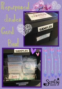 Sample box made from index card organizer
