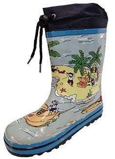 Little Kids Unisex Youth Boat and Beach Rain Boot Snow Boot w/ Tie and Lining – Boys and Girls