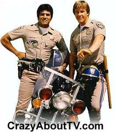 Chips t.v. show. The california highway patrol. Eric Estrada and Larry Wilcox