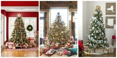 60 Stunning Ideas to Trim Your Christmas Tree - CountryLiving.com I love the Merry & Bright one!