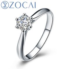 Find More Rings Information about ZOCAI Century Classic Natural Real 0.3 CT Certified I J/SI Round Cut Diamond Engagement Women Ring 18K White Gold (AU750) W00232,High Quality ring plain,China ring magnetic Suppliers, Cheap ring word from ZOCAI JEWELRY on Aliexpress.com