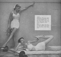 1949. Workout wear has come a long way.