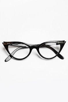 1f93731980 Rhinestone Betty Jo Cat Eye Clear Glasses - Black  1102-1 Cool Glasses
