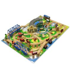 Thomas u0026 Friends Wooden Railway - Tidmouth Sheds Deluxe Train Set with Island Adventure Playboard -  sc 1 st  Pinterest & this Thomas the Train table top would look better at home instead of ...