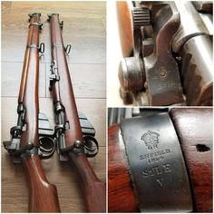MkV trials rifle and a Lithgow MkIII* Lee Enfield. Lee Enfield, Ww2 Weapons, Weapon Storage, Battle Rifle, Custom Guns, Long Shot, Cool Guns, Assault Rifle, Guns And Ammo