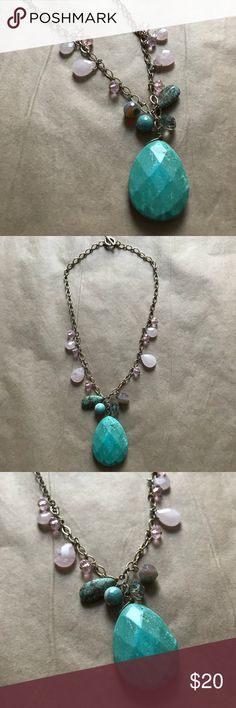 Beautiful Necklace Gorgeous turquoise and rose quartz necklace! So pretty and feminine. Jewelry Necklaces