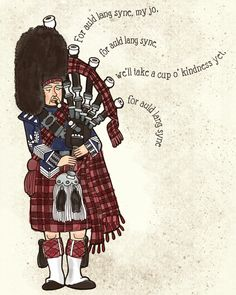 bagpiper auld lang syne