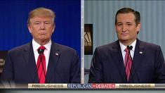 Donald Trump and Ted Cruz Clash at the Fox Business GOP Debate
