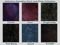 Dark and Dirty Collection with FREE eyeshadow. 100% All Natural, Vegan Eyeshadow and Eyeliner Mineral Makeup