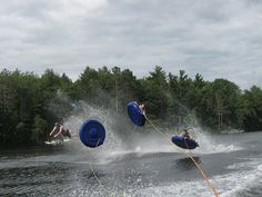 Assembly Park Bible Camp, photo by Grace Walsh, Lake Nebagamon WI, Water Ride, tube, tubing, speed boat by escapedtowisconsin, via Flickr