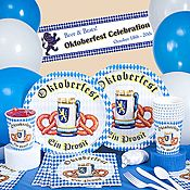 Set your table for a gut time with Oktoberfest tableware! Food and beverage play a major role in German celebrations, and Shindigz has what you need to serve them in style.