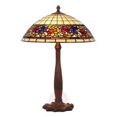 Rustic Tiffany style table lamp FLORA stands out with its classic design that can be easily integrated in different styles of furnishing.
