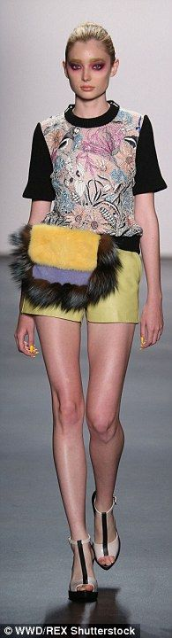 Some models sported fur fanny packs...